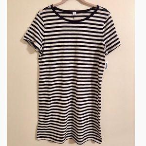 NWT Navy Stripe Knit Tee Dress